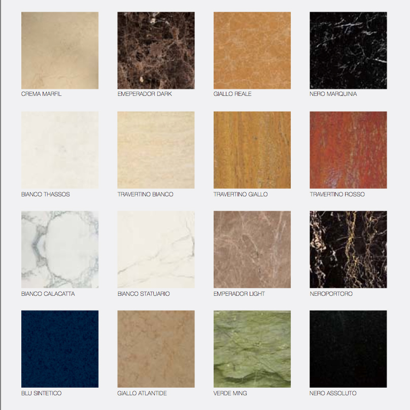 types of marble tile home design