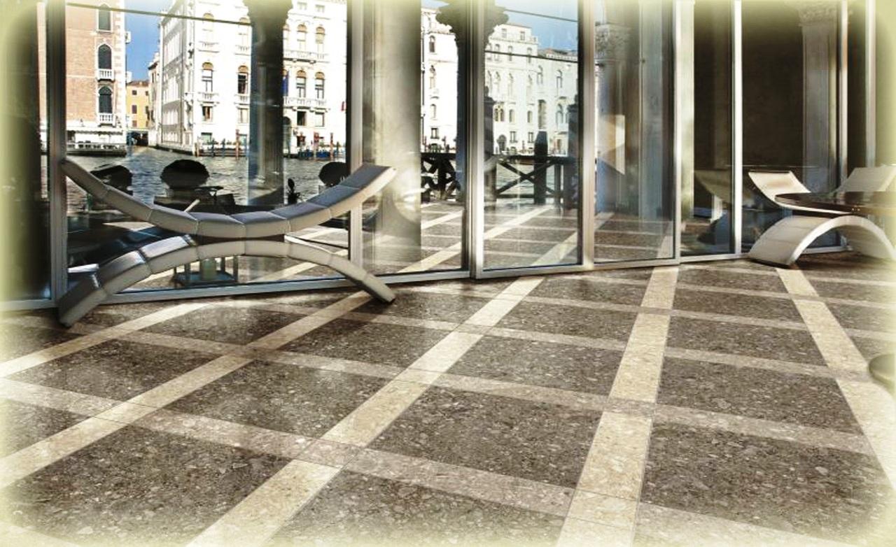Home Interior Design And Terrazzo Tile With Terrazzo Strips For